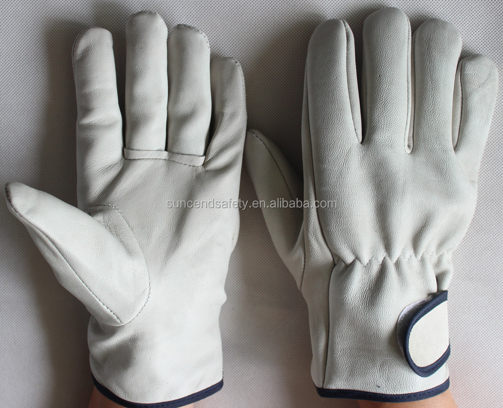 Cow grain leather truck driver glove leather driver gloves