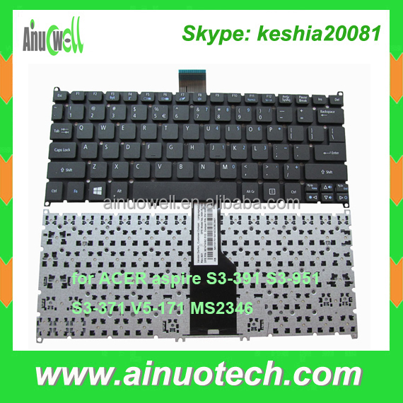 US Laptop Keyboard for ACER S3-391 S3-951 S3-371 V5-171 MS2346 notebook Keyboards factory