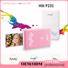 Laijing Pink HiTi Pringo P231 Portable Mini Digital Pocket Photo Printer With WiFi