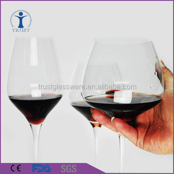 High quality wholesale 600ml 750ml 850ml customized Stock goblet silver big red wine glass