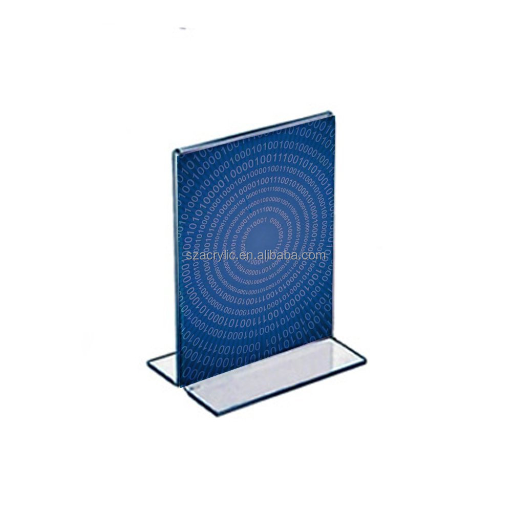 Acrylic A5 size table tent menu display