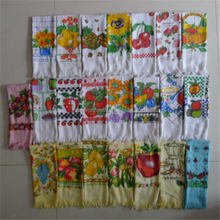 Christmas gift cotton printed kitchen towels whoesale,cheap promotional kitchen towels bulk