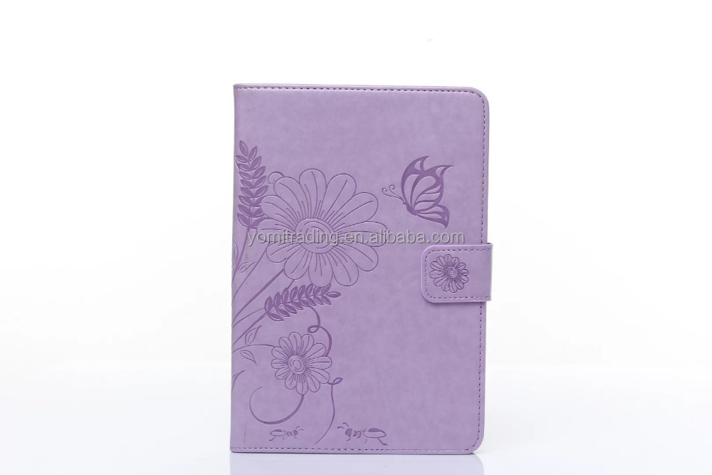wholesale Luxury butteryfly pattern wallet Leather Case for ipad 5 Ipad air