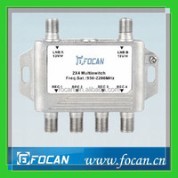 2 in 4 out 950-2200MHz diseqc multi-switch for satellite receiver