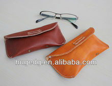 Real Leather soft glasses case