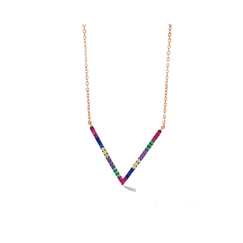 Most popular multi color CZ diamond 925 sterling silver rainbow <strong>jewelry</strong>
