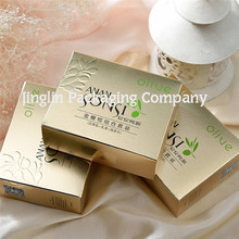 New Design Metallic Paper Embossed UV Spot Logo Box for Cosmetic Hand Made Soap