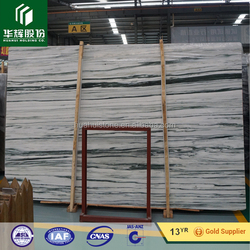 Low cost high quality gentleman white white marble with green veins JXQ8204