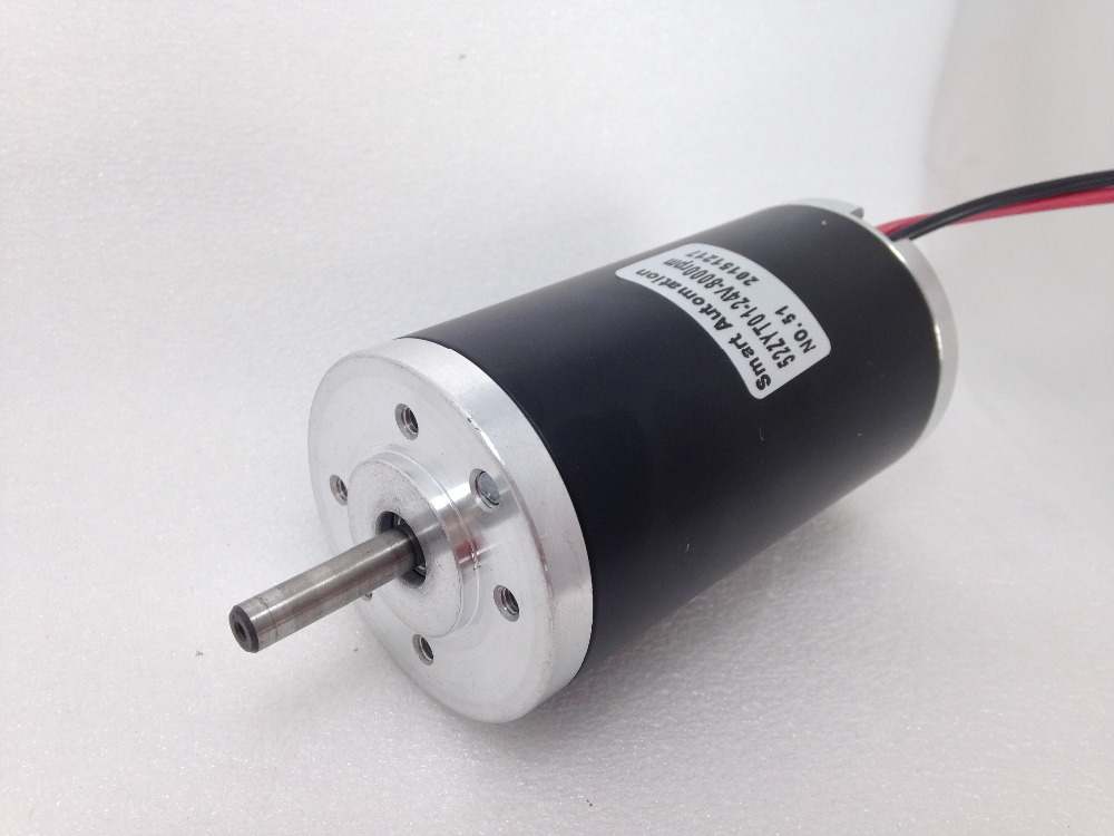 52mm high quality good price 12v 24v dc micro motors