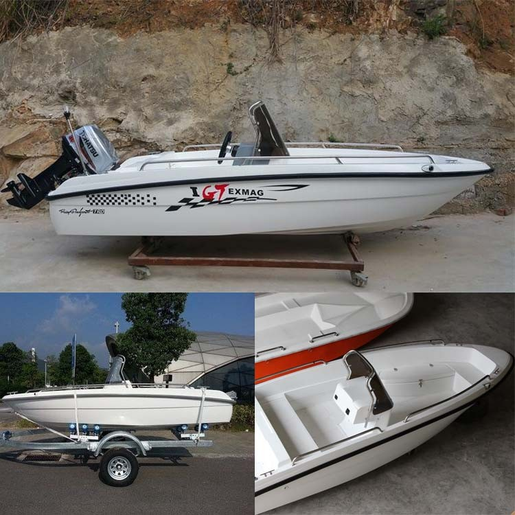 Small fiberglass speed boat fishing boat for sale buy for Mini fishing boats