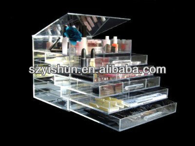 Manufacturing customized acrylic makeup organizer with handle