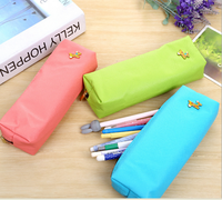Cheap color oxford fabric zipper pencil case for teenagers
