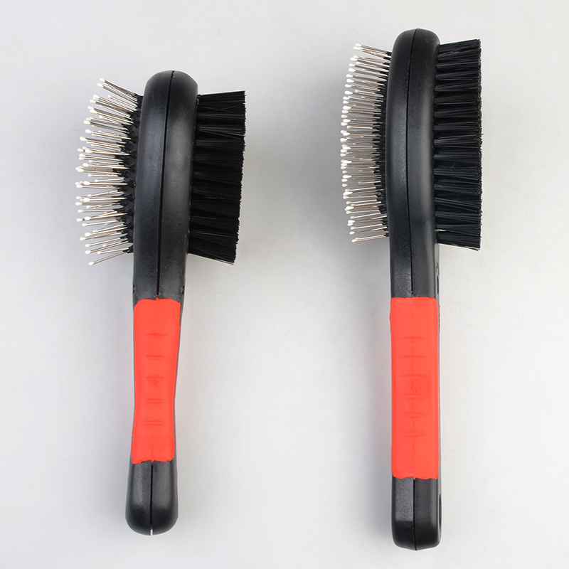 Wholesale Pet Grooming Products Free Sample Pet Wire Slicker Brush Dog Fur Brush
