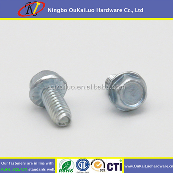 Lustrating Hydrogen Serrated Hex Washer Head Thread Forming Screws for Steel