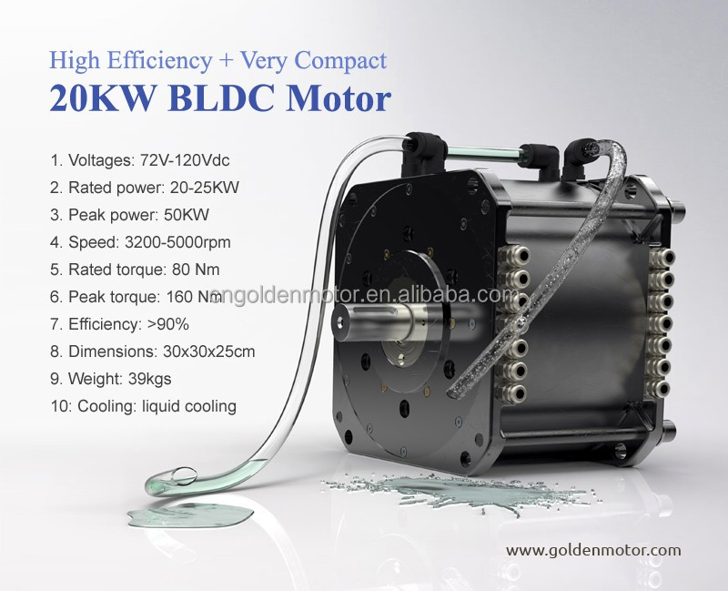 High Efficiency , brushless car motor 20KW electric car conversion kit , electric motor for car