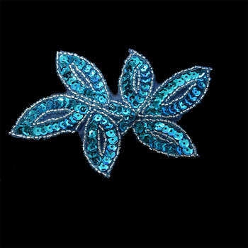 Fashion shiny sequins bead flower crystal appliques for wedding dresses