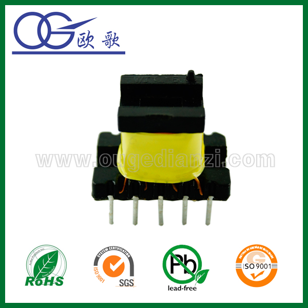 High temperature resistantEE22 high frquency transformer, 110 to 24 volt transformer