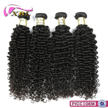 Shedding free tangle free tight Malaysian curly human hair for weaving
