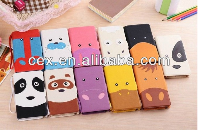 Happy Panda PU Leather Case For Iphone 5 5S