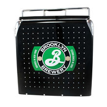 17L Black fashion logo design metal locking cooler box with FDA certificate