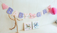 Baby Girl Pink Baby Shower Banner Party Decoration