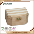 BSCI &FSC handmade hinged unfinished pine wood gift boxes