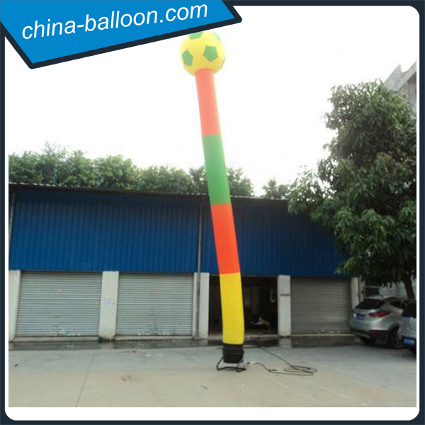 Customes advertising inflatable air dancer with football on top/ inflatable air tube for sport events promotion