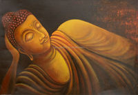 hand painted pictures buddha paintings