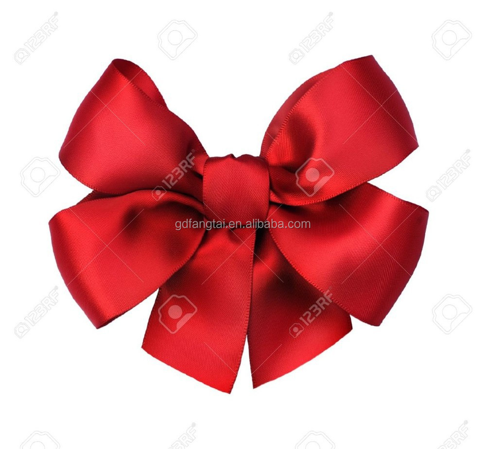 Customized red velvet christmas pre tied bow