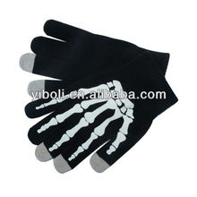 Hot sale factory wholesale Bone type three fingers touch screen gloves