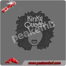 La venta de Top Custom Nueva Afro T-shirt original diseño Kinky Girl & Wedding Dress Ladies 2014 Crystal