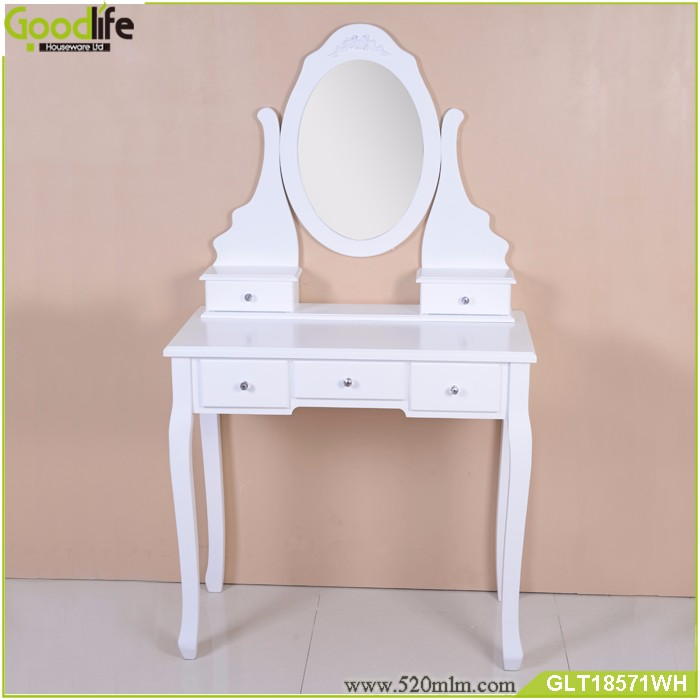 French home furniture 3-piece vanity set with mirror