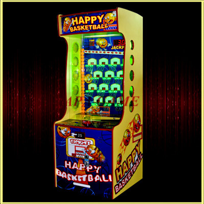 Happy Basketball ball shooting kids ticket lottery game machine