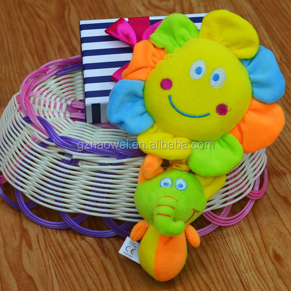 Moon& star& sunflower pull string musical Plush toys baby educational stuffed & plush toy