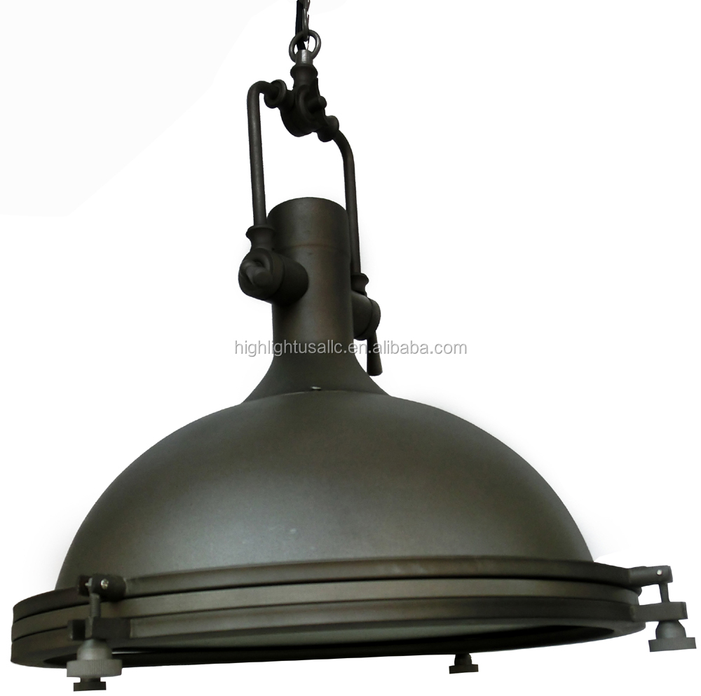 Steampunk dome vintage industrial pendant lamp light aged rustic lighting