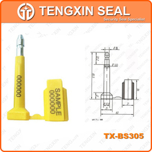 TX-BS305 high protected bolt seal,steel security lock,container seal lock
