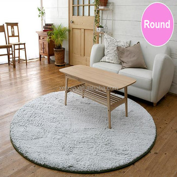 decorations home polyester shaggy mat test bedside mat