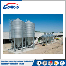 GUOYU Stainless Steel Silos For Poultry Farm Husbandry Farm With feeding system
