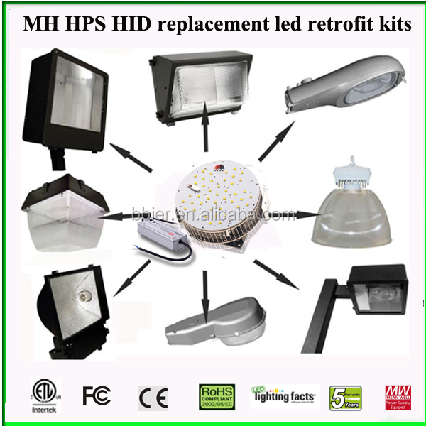 ETL Led 150w Retrofit kit for 400watt Metal Halid Shobox area light replacement