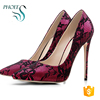 Sexy Women High Heels Embossed Leather 12CM Party Wedding Dress Stiletto Pumps Shoes