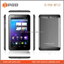7'' 2g tablet pc 4000mah battery dual sim dual core mtk6572 cpu newest free sample for test made in china h-pod supplier