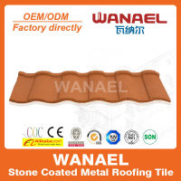 Wanael colorful stone chips coated steel roof tile, versatile roof, colorful roof tile