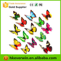 Vivid handmade 3d butterfly wall stickers home decor / removable wall sticker