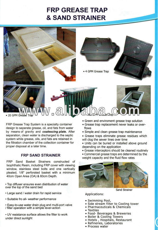FRP Grease Traps and FRP Sand Strainers