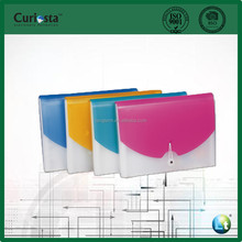 Hot sale elegant coil rope wallet stationery PP 13 pocket Expanding File