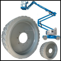 aichi and genie towable manual boom lift solid non marking tires 15x5 22x7x17 3 / 4
