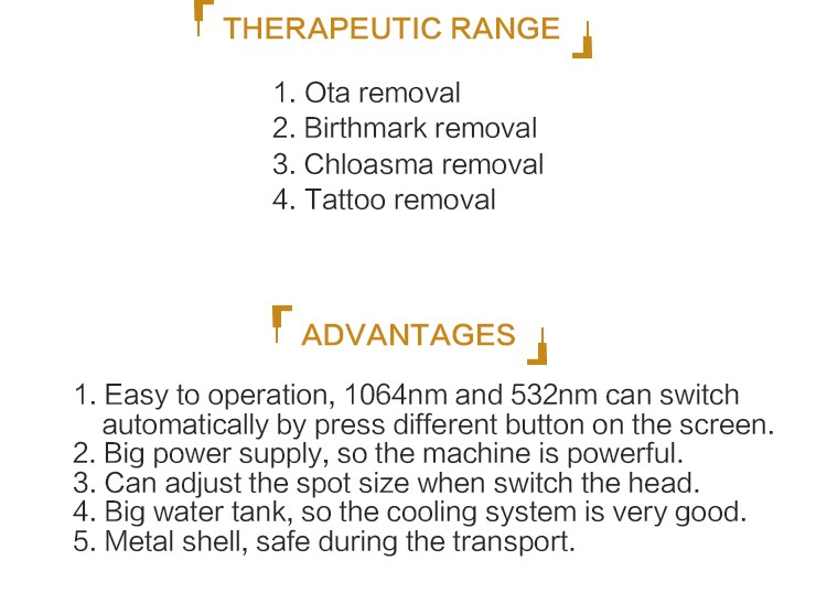 Latest powerful Q switched nd yag laser tattoo removal/C8 tattoo removal,Ota removal/1320nm black doll skin rejuvnation