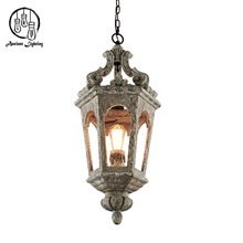2017 French Mini Vintage Wood Pendant Light Antique Inspired Wooden Chandelier