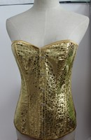 instyles walson fashion hot sale gold overbust lingerie shaper bustier sequin corsets
