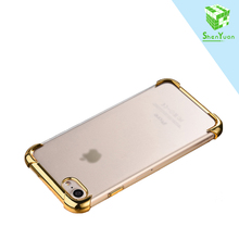 Free sample phone case For iPhone 7/7plus Ultra Thin Clear Crystal TPU Soft and hard Mobile Phone cover For